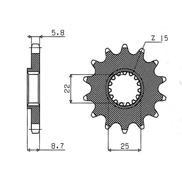 catena corona pignone - 54.7330112