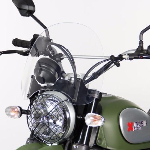parabrezza Ducati Scrambler 800 Touring  TRASPARENTE  attacchi inclusi - 4025066154197