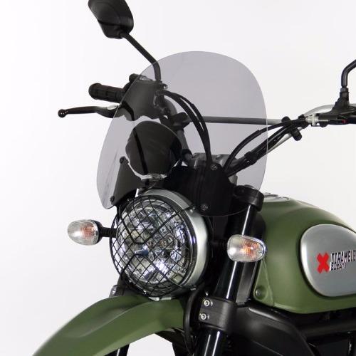 parabrezza Ducati Scrambler 800 Touring  FUME attacchi inclusi - 4025066154203