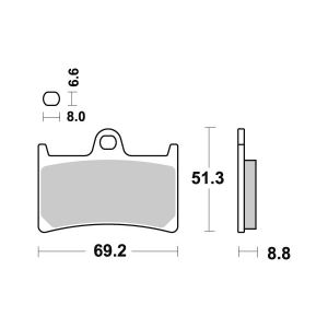 pastiglie freno anteriori - 07YA2307