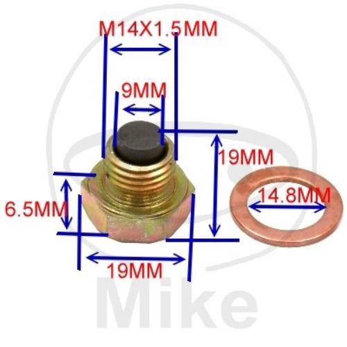 TAPPO DI SCARICO OLIO MAGNETICO  M14X1.50 - 723.93.20