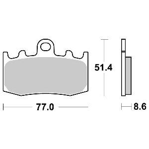 pastiglie freno anteriori - 07BB2607